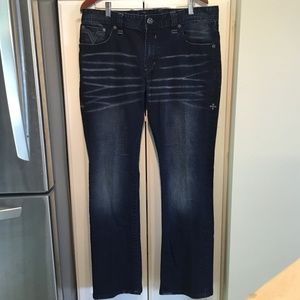 Affliction Blake Relaxed & Straight Jeans Size 38W